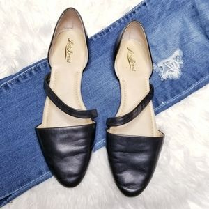 Lucky brand leather pointed toe d'orsay flats
